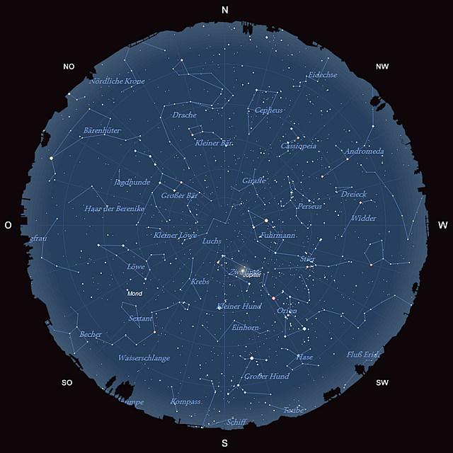 Der Sternhimmel im Februar 2014