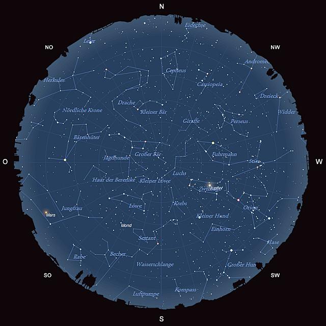 Der Sternhimmel im März 2014