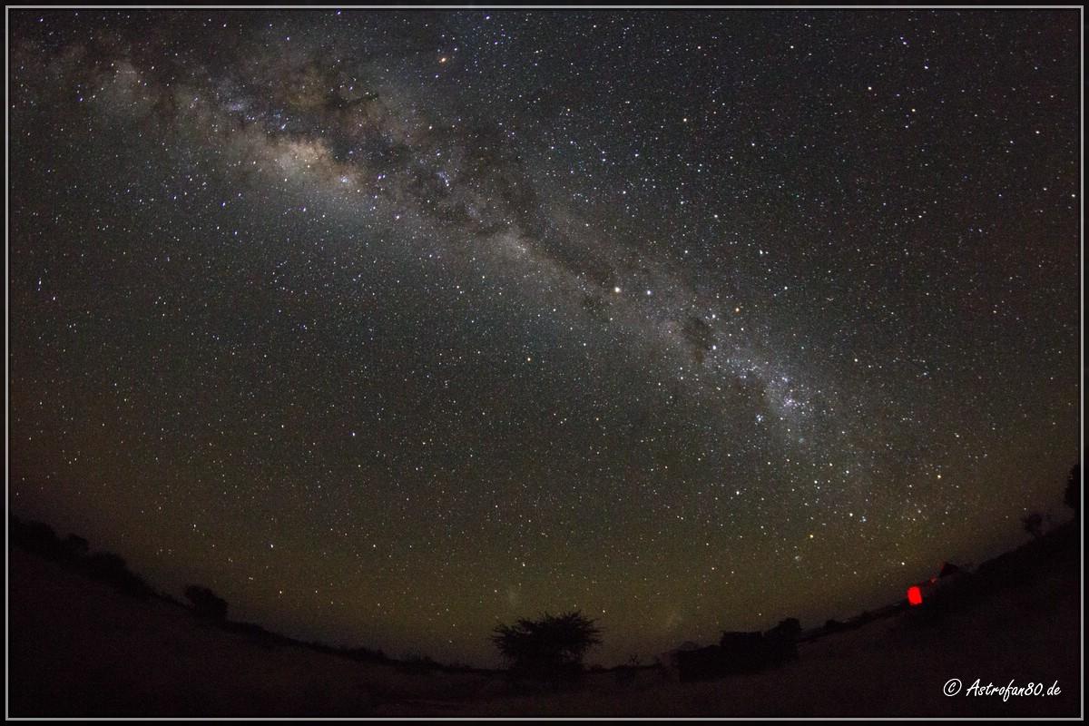 Die erste Nacht unter dem südlichen Sternenhimmel