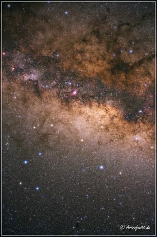 Milchstraße im Sternbild Schütze