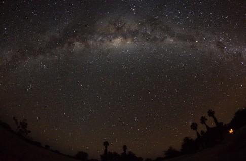 Milchstraße im Zenit