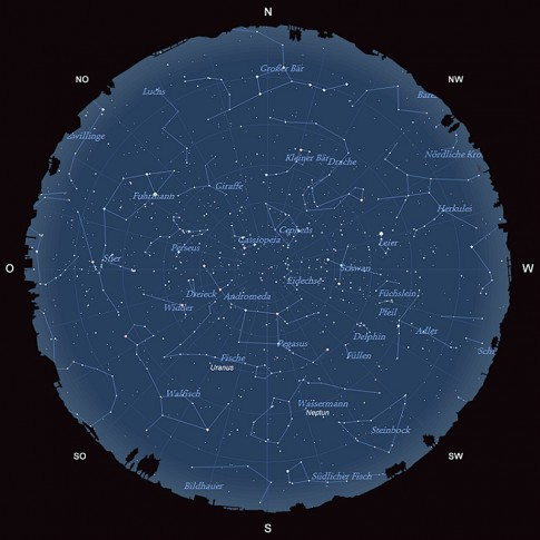 Der Sternhimmel im Oktober 2014