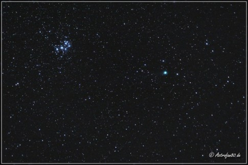 Komet Lovejoy bei den Plejaden