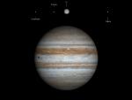 Schattenwurf von Io auf Jupiter