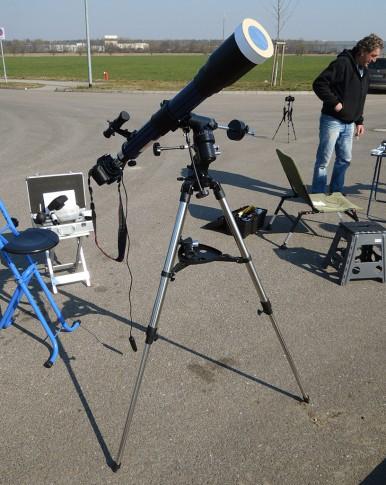 Lidlscope mit selbstgebasteltem Sonnenfilter