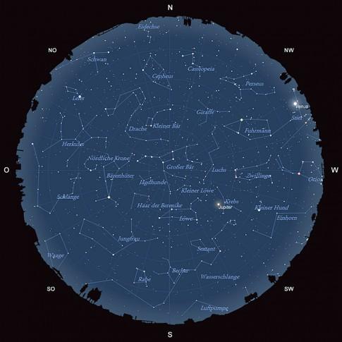 Der Sternhimmel im April 2015
