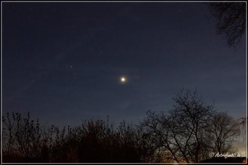 Venus neben dem Plejaden