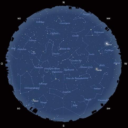 Der Sternhimmel im Mai 2015