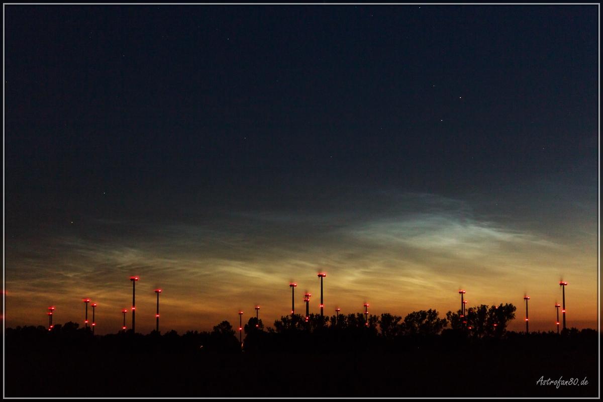Leuchtende Nachtwolken am 10./11. Juli 2015
