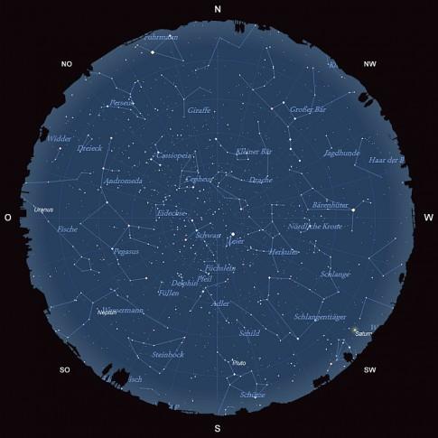 Der Sternhimmel im August 2015