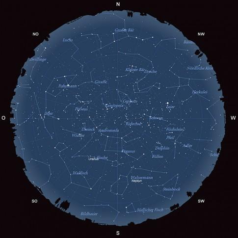 Der Sternhimmel im Oktober 2015
