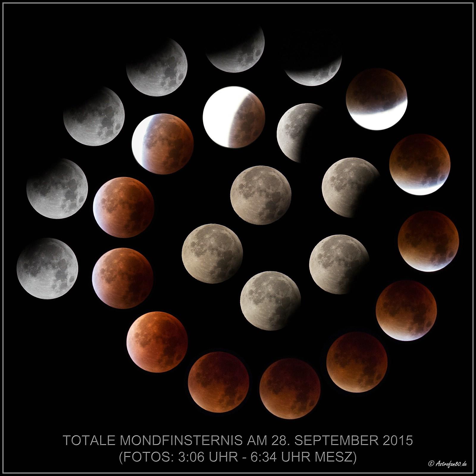 Beobachtungsbericht zur totalen Mondfinsternis