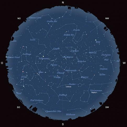 Der Sternhimmel im November 2015