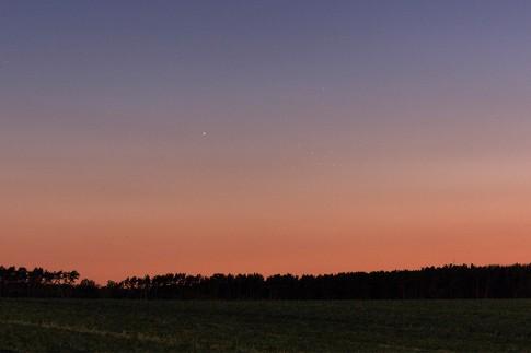 Merkur und Plejaden