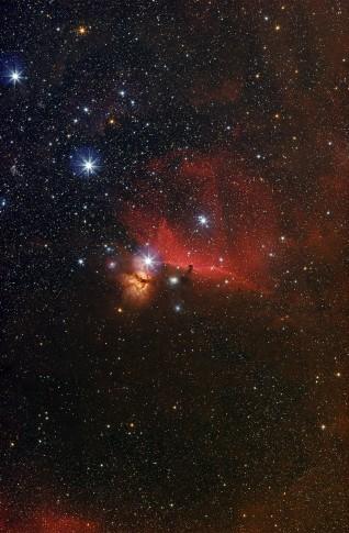 Die Region um IC 434 mit dem Pferdekopnebel im Sternbild Orion