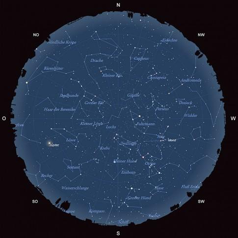 Der Sternhimmel im Februar 2016
