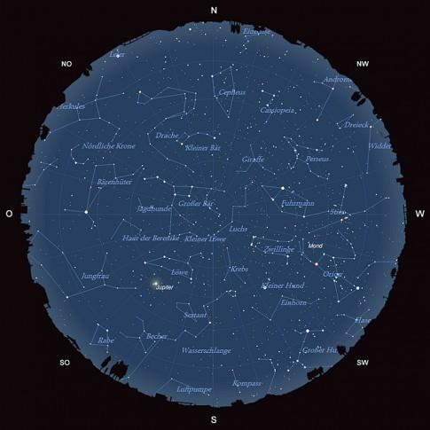 Der Sternhimmel im März 2016