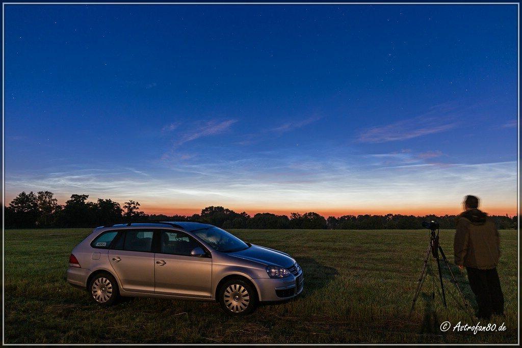 Leuchtende Nachtwolken über Lübben am Morgen des 19. Juni 2016