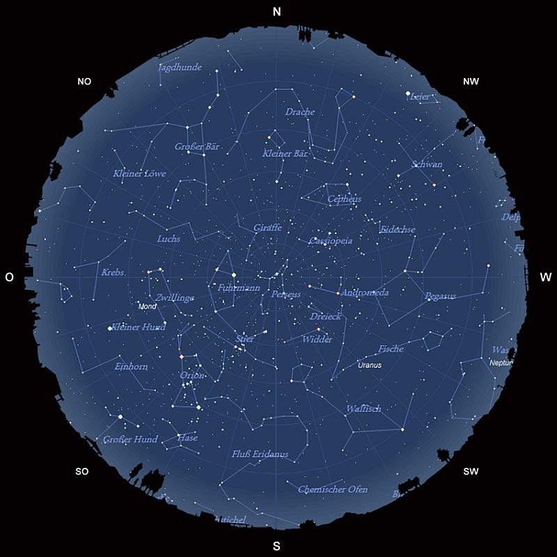 Der Sternhimmel im Dezember 2016