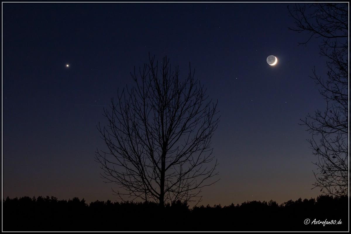 Abendstern und Mond