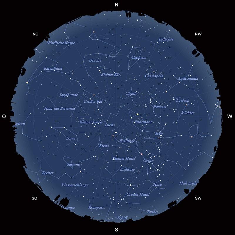 Der Sternhimmel im Februar 2017