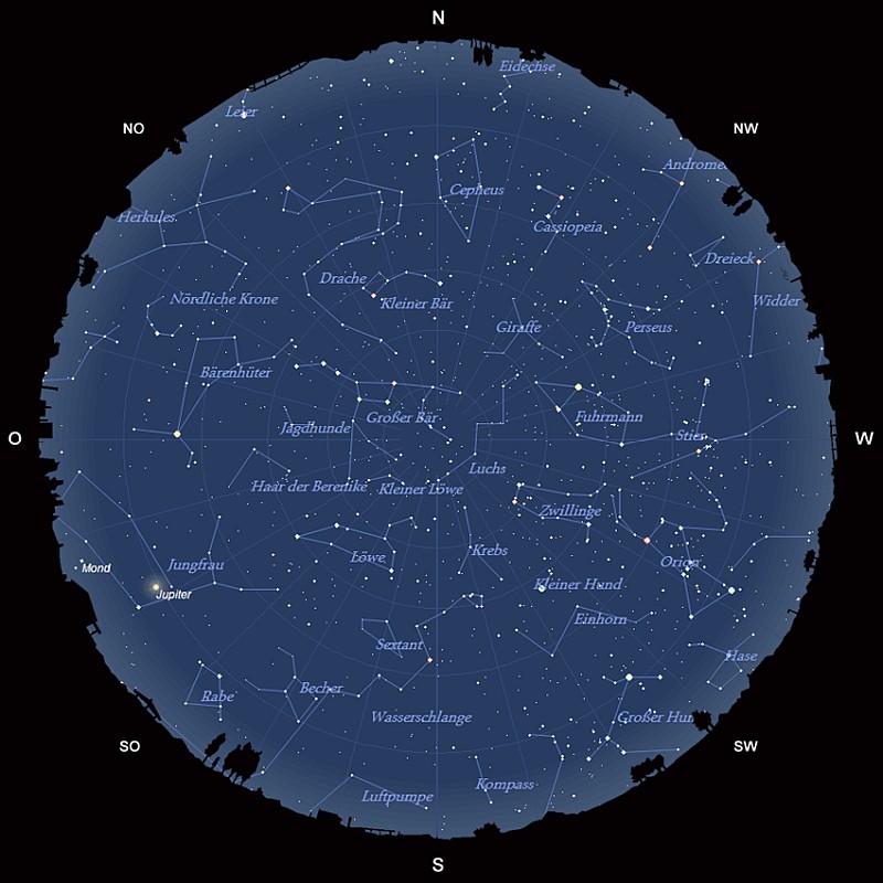 Der Sternhimmel im März 2017