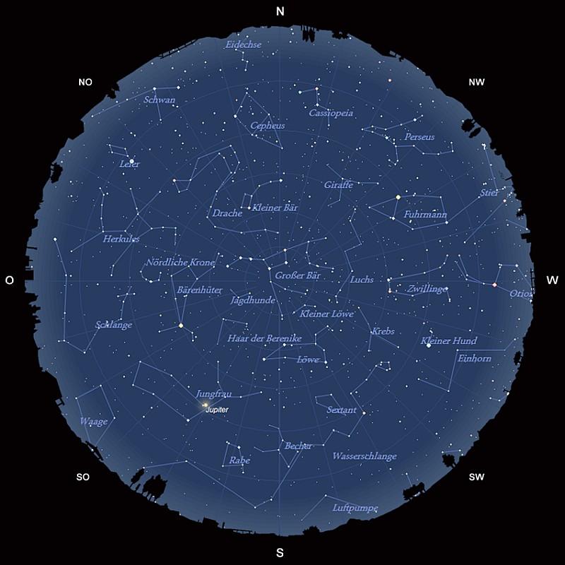 Der Sternhimmel im April 2017
