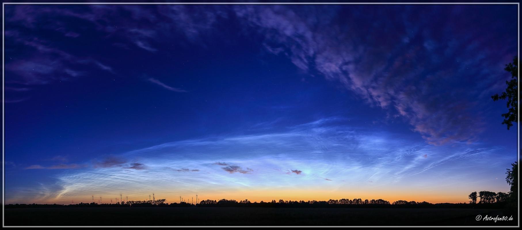 Leuchtende Nachtwolken am 3. Juli 2017 #1
