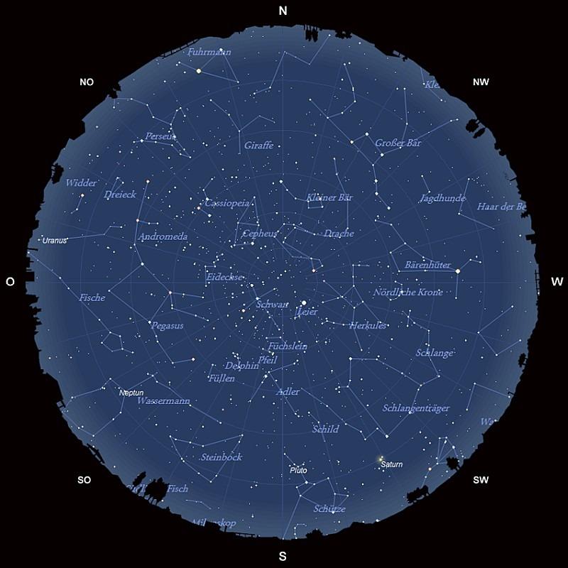 Der Sternhimmel im August 2017