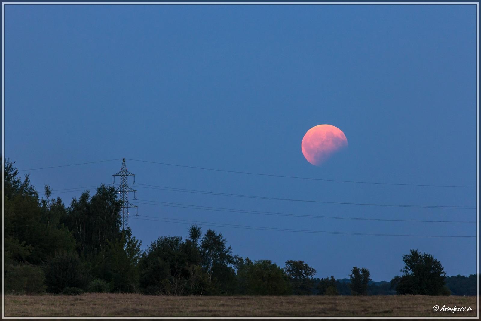 MoFi 170807 - Mond über dem Osthorizont