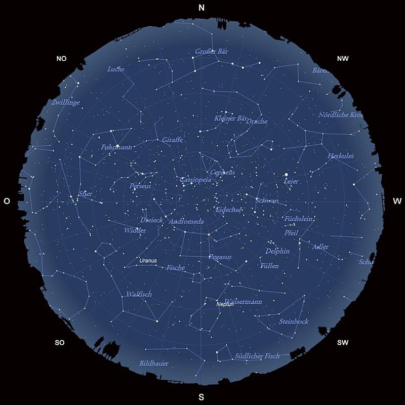 Der Sternenhimmel im Oktober 2017