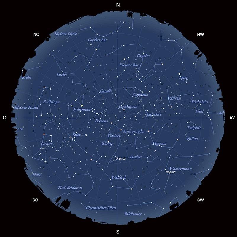 Der Sternhimmel im November 2017