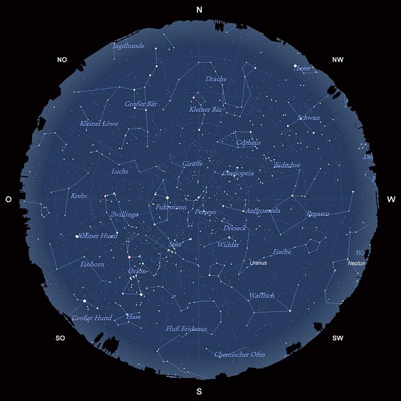 Der Sternhimmel im Dezember 2017