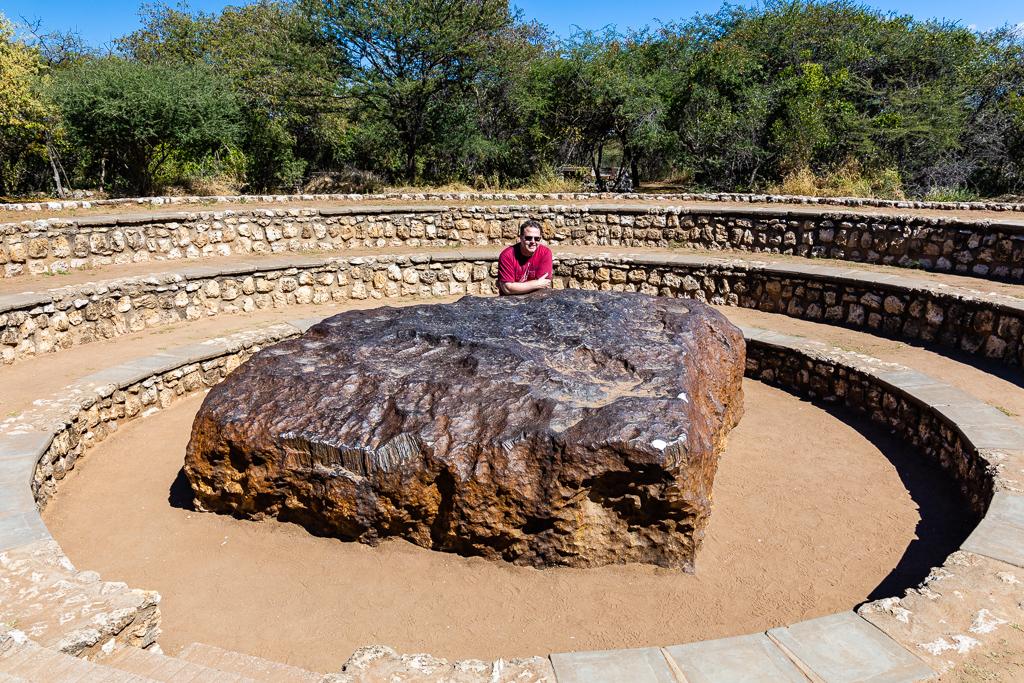 Me at Hoba Meteorite