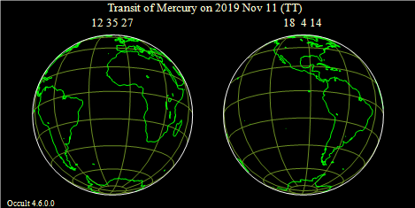 2019 Nov 11 Transit Earthmaps