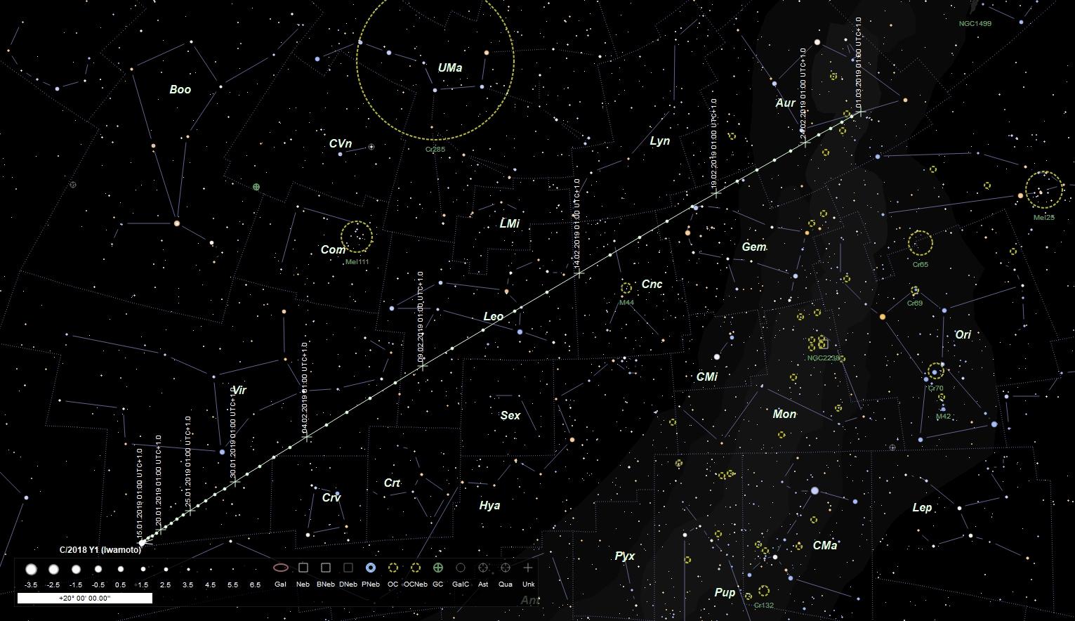 Neuentdeckung: Komet C/2018 Y1 (Iwamoto)
