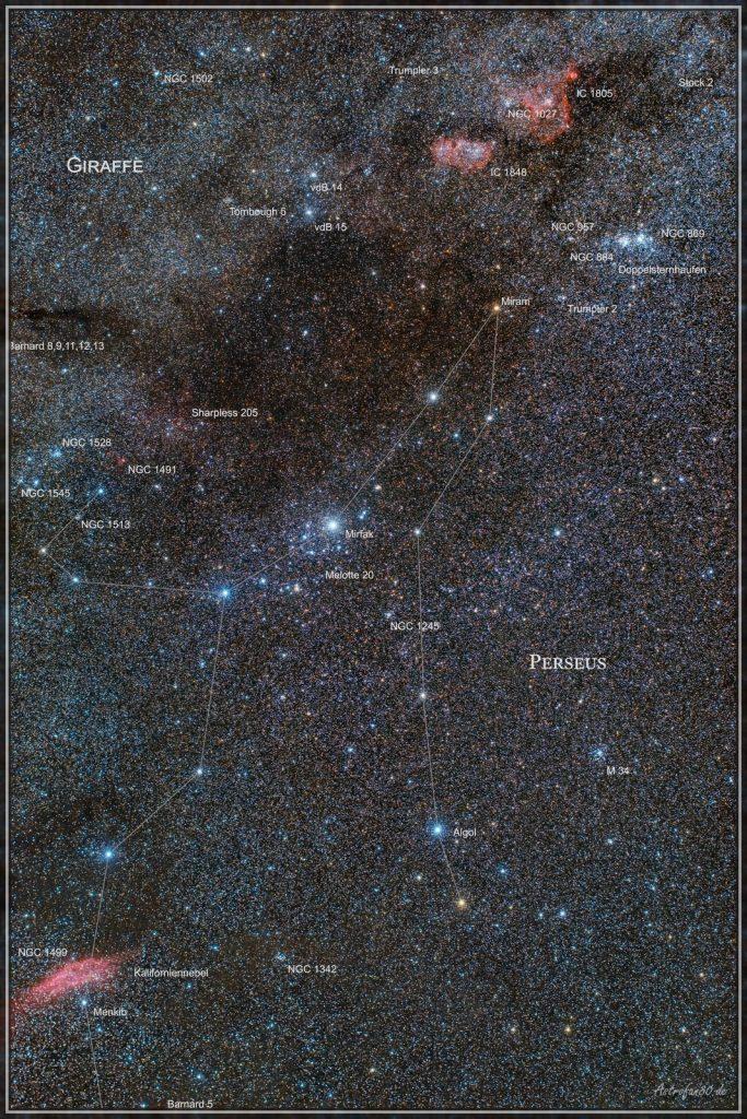 Milchstraßenregion im Sternbild Perseus