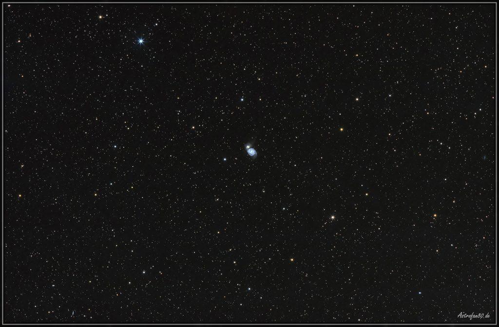 Weitfeldaufnahme Messier 51