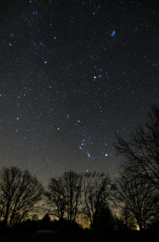 Winterhimmel mit den Plejaden
