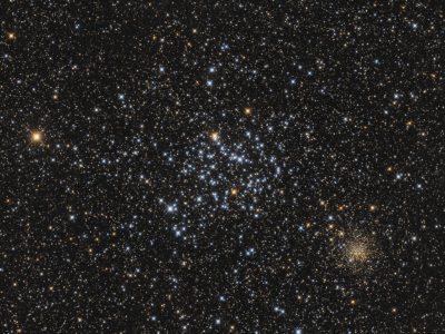 Objekte des Monats: Messier 35 & NGC 2158