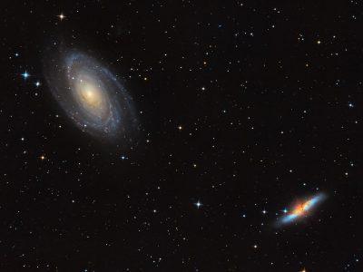 Objekte des Monats: Das Galaxienpaar Messier 81 & Messier 82