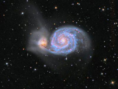Objekte des Monats: Die Whirlpoolgalaxie Messier 51