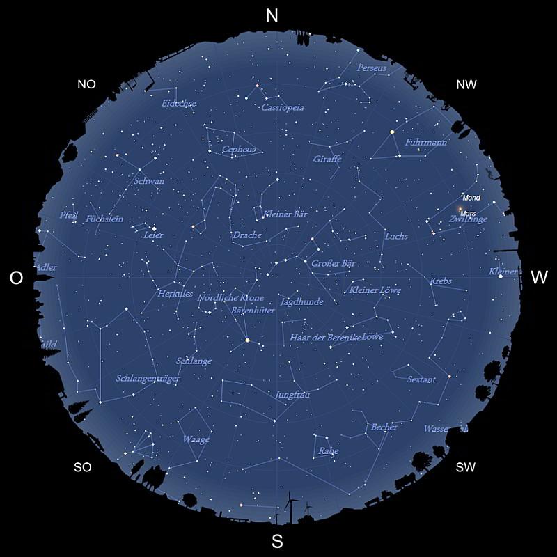Sternhimmel im Mai 2021