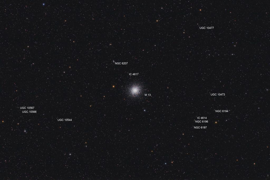 Umgebung von Messier 13
