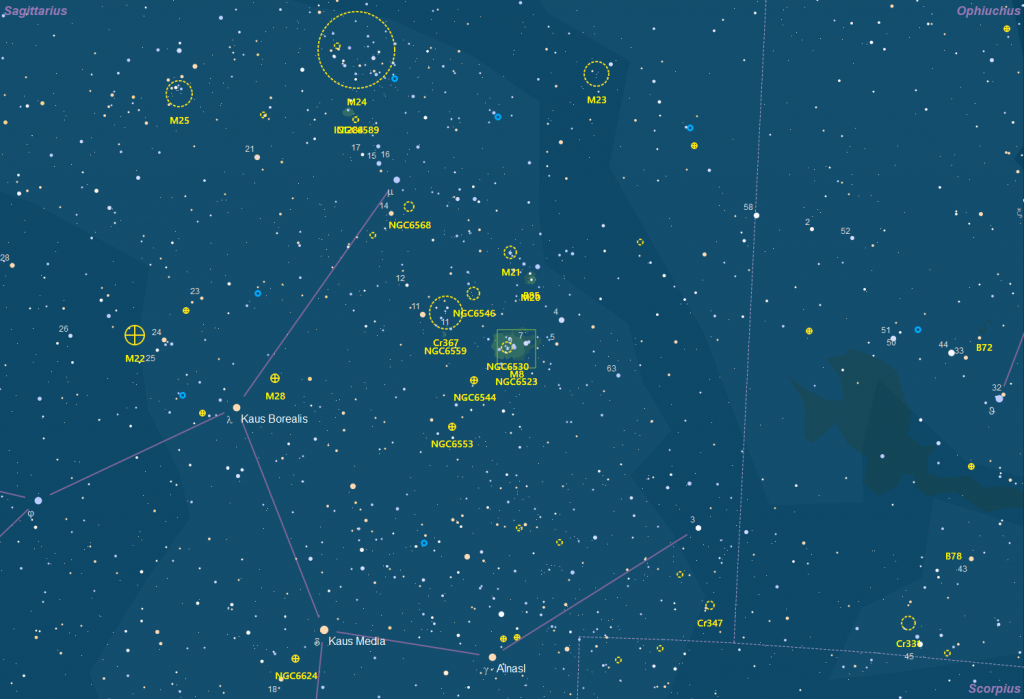 Aufsuchkarte Messier 8