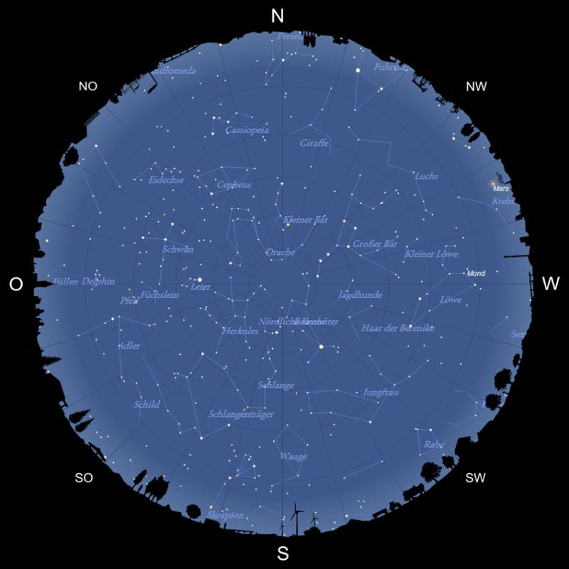 Sternhimmel im Juni 2021