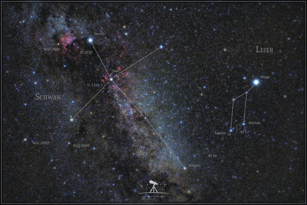Sternbilder Schwan & Leier