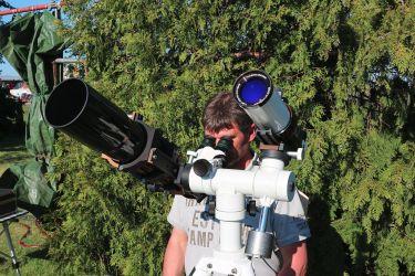 Thorsten beobachtet den Merkurtransit