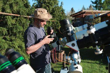 Stephan fotografiert den Merkurtransit mit der Canon EOS 7D
