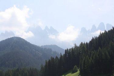 Blick auf die Geislerspitzen - Südtirol